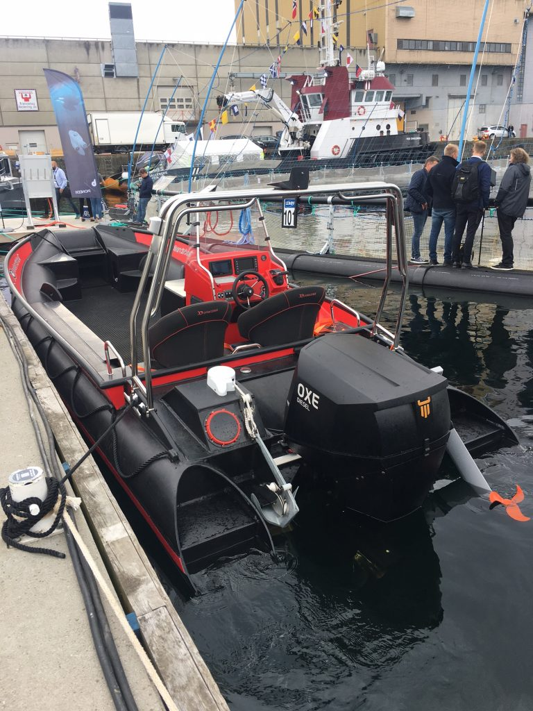 Demo boat with OXE Diesel engine on a Polar Circle 685 RIB
