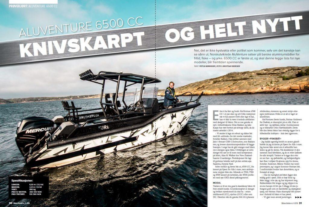 Test review of AluVenture 6500 CC in Båtens Verden