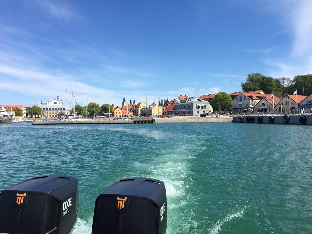 Forlater Visby Havn