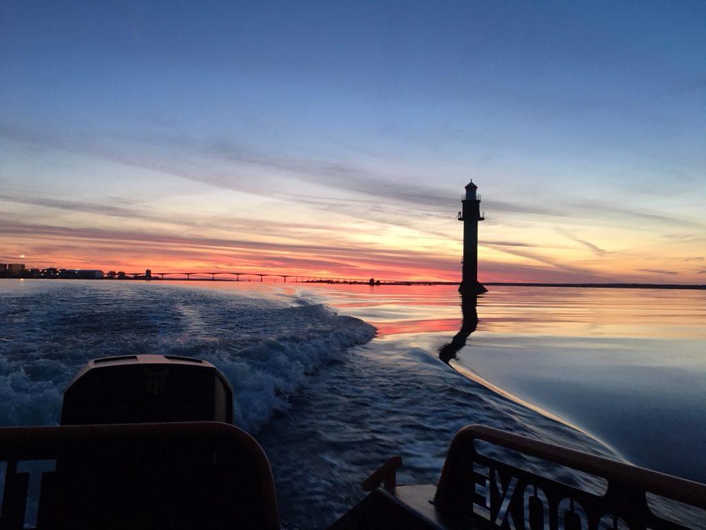 Fyr på vei ut av Kalmar Havn