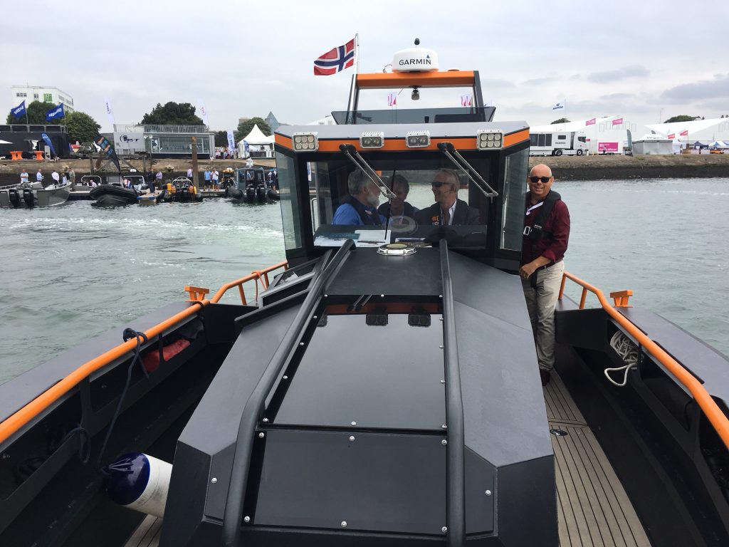 Boat trial during Seawork