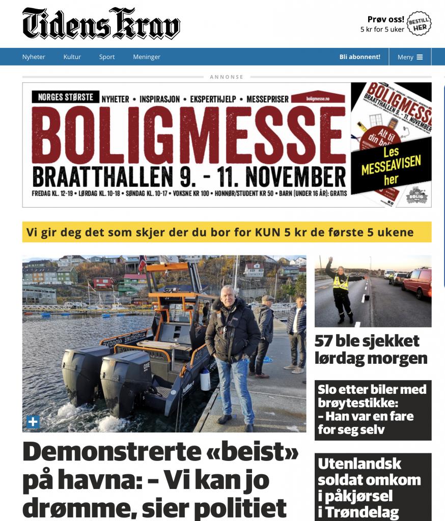 Tidens Krav, lokalavis Kristiansund